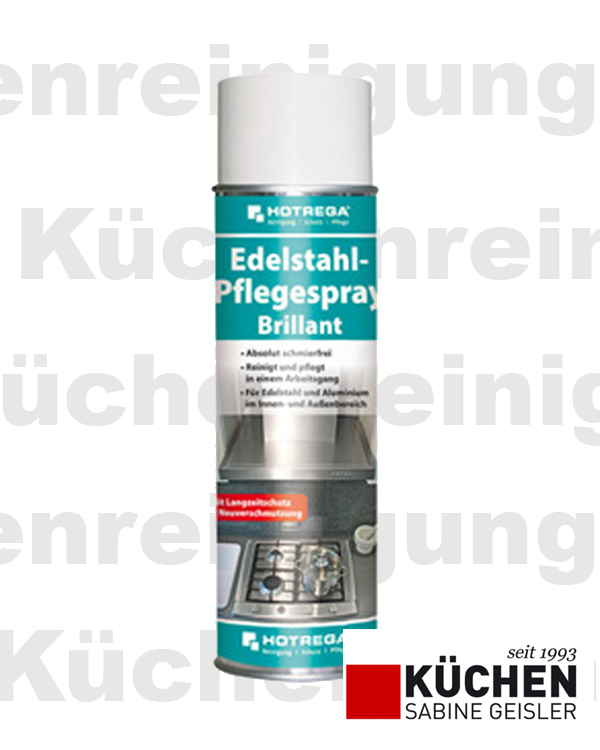 hotrega edelstahl pflegespray brillant 300 oder 500 ml langzeitschutz gastronomiebew hrtes. Black Bedroom Furniture Sets. Home Design Ideas